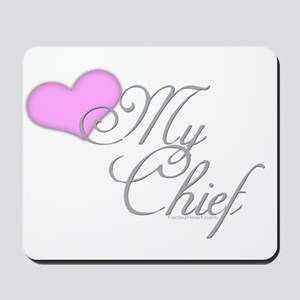 Heart my Chief (Navy Ladies) Mousepad