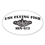 USS FLYING FISH Sticker (Oval 50 pk)