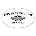 USS FLYING FISH Sticker (Oval 10 pk)