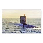 USS FLYING FISH Sticker (Rectangle)