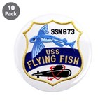 """USS FLYING FISH 3.5"""" Button (10 pack)"""