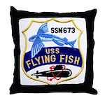 USS FLYING FISH Throw Pillow