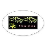 Ylang-ylang Oval Sticker