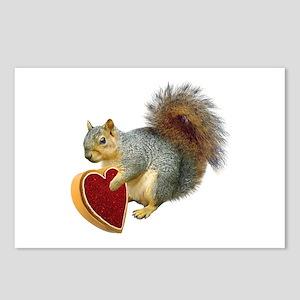 Squirrel Valentine Postcards (Package of 8)