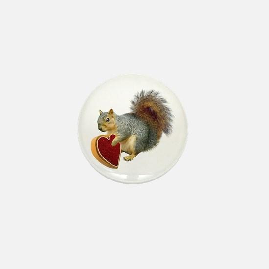 Squirrel Valentine Mini Button