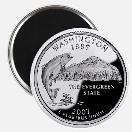 Washington State Quarter - Fridge Magnet