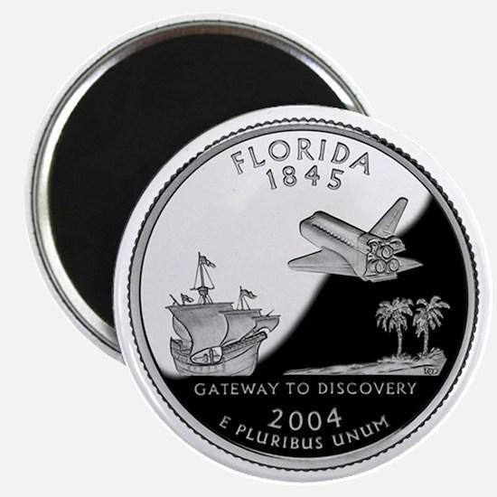 Florida State Quarter - Fridge Magnet