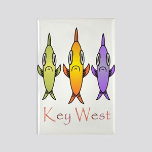 Key West 3 Fishes Rectangle Magnet