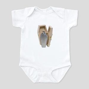 Coffin Wooden Flask Infant Bodysuit