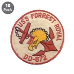 """USS FORREST ROYAL 3.5"""" Button (10 pack)"""