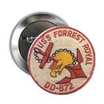 """USS FORREST ROYAL 2.25"""" Button (100 pack)"""