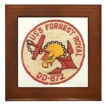USS FORREST ROYAL Framed Tile