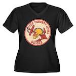 USS FORREST Women's Plus Size V-Neck Dark T-Shirt