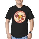 USS FORREST ROYAL Men's Fitted T-Shirt (dark)
