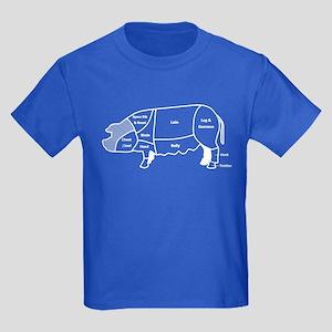 Pork Diagram Kids Dark T-Shirt