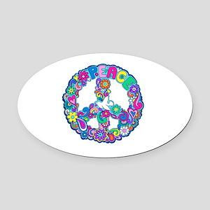 peace 01 Oval Car Magnet