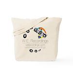 WE Recs logo reversed Tote Bag