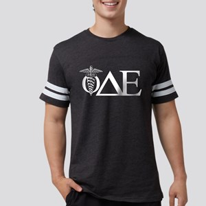 Phi Delta Epsilon Letters Dark Mens Football Shirt