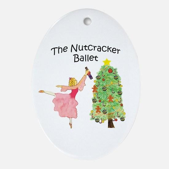 magical clara,nutcracker Oval Ornament