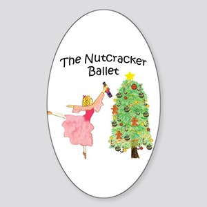 Nutcracker & Clara Oval Sticker