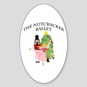 Clara and her nutcracker gift Oval Sticker