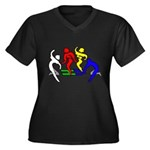 Tinikling Women's Plus Size V-Neck Dark T-Shirt