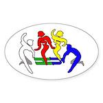 Tinikling Oval Sticker