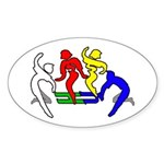 Tinikling Oval Sticker (10 pk)