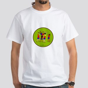 Girls Baseball White T-Shirt
