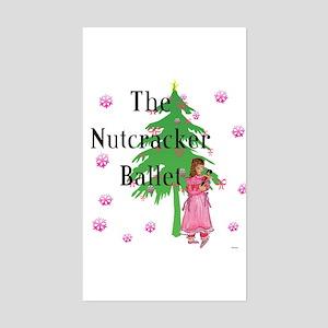Clara, Nutcracker ballet Rectangle Sticker