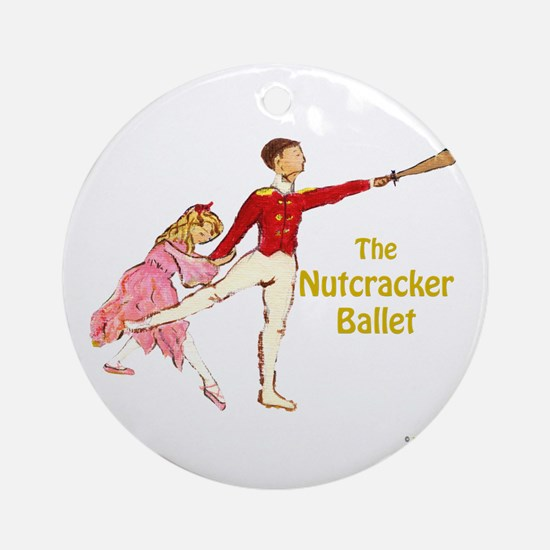 Clara & Nutcracker Ornament (Round)