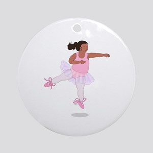 Wholesome Leaping Ballerina Ornament (Round)
