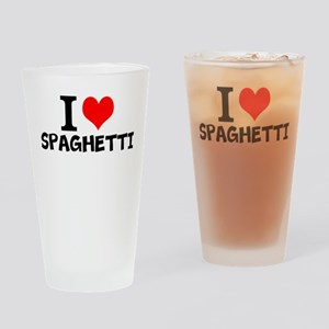 I Love Spaghetti Drinking Glass