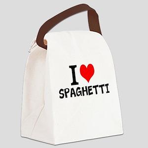 I Love Spaghetti Canvas Lunch Bag