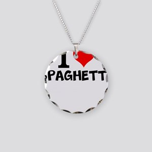 I Love Spaghetti Necklace