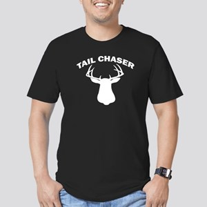 TAIL CHASER Men's Fitted T-Shirt (dark)
