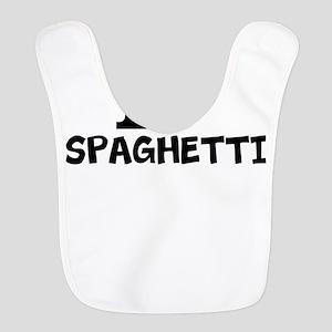 I Love Spaghetti Polyester Baby Bib