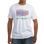 Tag Cloud Fitted T-Shirt