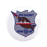 "USS HALIBUT 3.5"" Button (100 pack)"
