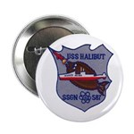 "USS HALIBUT 2.25"" Button"