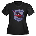 USS HALIBUT Women's Plus Size V-Neck Dark T-Shirt