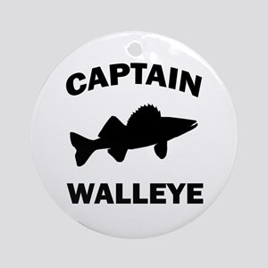 CAPTAIN WALLEYE Ornament (Round)