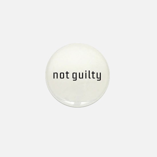 Not Guilty Mini Button