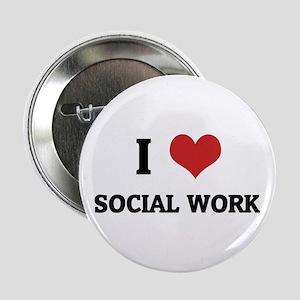 I Love Social Work Button