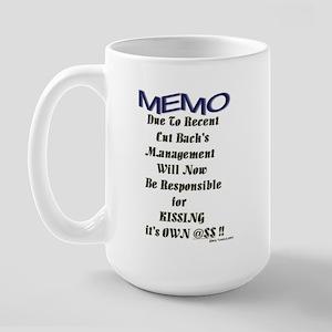 """Office Memo"" Large Mug"
