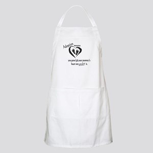 Born in mommy's heart Apron