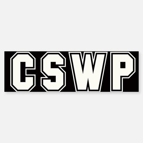 CSWP Bumper Bumper Bumper Sticker