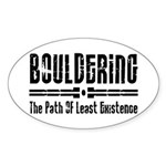 Path of Least Existence Sticker (Oval)