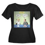 Meaningl Women's Plus Size Scoop Neck Dark T-Shirt