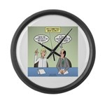 Meaningless Motions Large Wall Clock